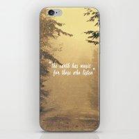 The earth has music  iPhone & iPod Skin