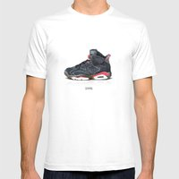Pixel Jordan Mens Fitted Tee White SMALL