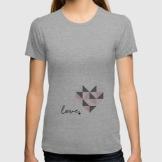 love Womens Fitted Tee Athletic Grey SMALL