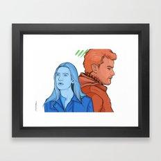 FRINGE: The Blue and The Red Framed Art Print