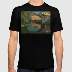 The River SMALL Mens Fitted Tee Black