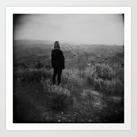 Overlooking the Mountains Art Print
