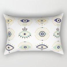 Evil Eye Collection on White Rectangular Pillow