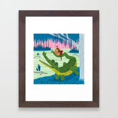The Alligator and The Armadillo Framed Art Print