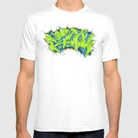 Vecta Wall Smash Mens Fitted Tee White SMALL