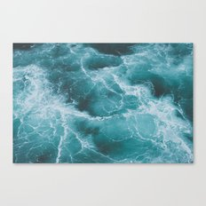 Electric Ocean Canvas Print