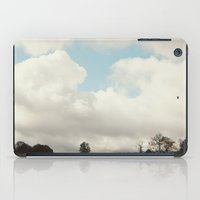 clouds and trees iPad Case
