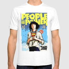People Have The Power Mens Fitted Tee White SMALL