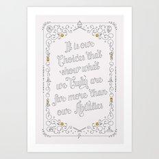 Harry Potter Typographic Quote Art Print
