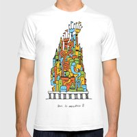 Monster Tower III Mens Fitted Tee White SMALL