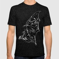 Leather Wings Mens Fitted Tee Tri-Black SMALL