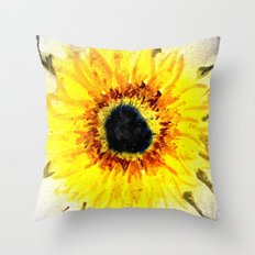 Sunflower from Water Throw Pillow