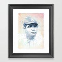 Babe Ruth Framed Art Print