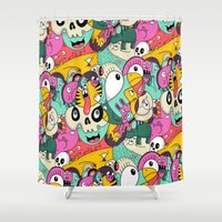 Scribble Guys Pattern Shower Curtain