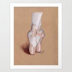 Ballet Pointe Shoes. Art Print
