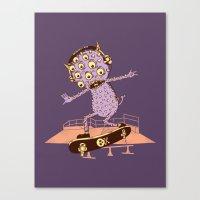 Hipster Monster Canvas Print