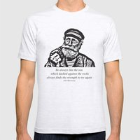 Man Of The Sea Mens Fitted Tee Ash Grey SMALL