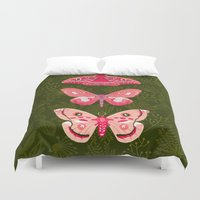Lepidoptery No. 7 by Andrea Lauren  Duvet Cover