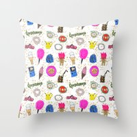 Growing Up in the 90s Throw Pillow