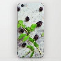 Scattered Blackberries iPhone & iPod Skin