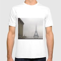 Eiffel Tower In Rain And… Mens Fitted Tee White SMALL