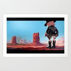 End of Film Art Print