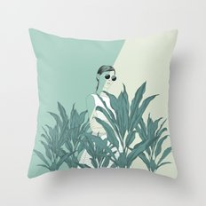 The Blue Nature Throw Pillow
