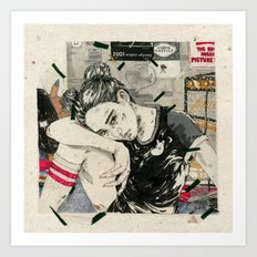 See through lies Art Print