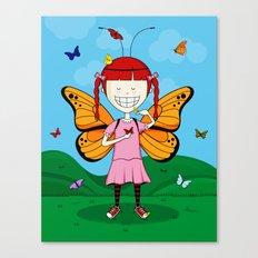 i heart butterflies Canvas Print