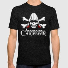 Assassins of the Caribbean Mens Fitted Tee Tri-Black SMALL