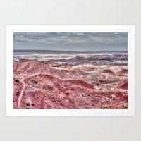 Red desert Art Print