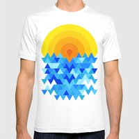 Sun & Sea Mens Fitted Tee White SMALL