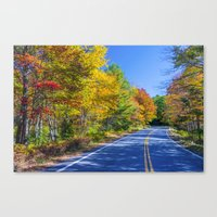 New Hampshire Country Ro… Canvas Print