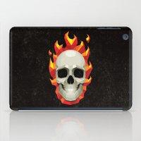 Flaming Skull iPad Case