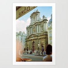 Paris in 35mm Film: Eglise Saint-Paul-Saint-Louis in Le Marais Art Print