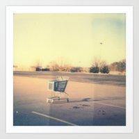 Cart Polaroid Art Print