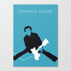 No015 MY Chuck Berry Minimal Music poster Canvas Print