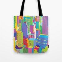 Cityscape windows Tote Bag