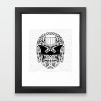 Day Of The Dredd Framed Art Print