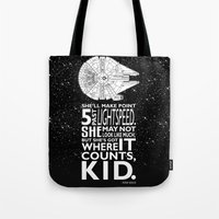Tote Bag featuring Star Wars - What a piece of Junk! by Tom Ryan's Studio