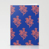 Stationery Card featuring Corals by Maria Tanygina