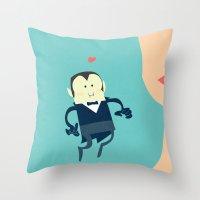 The Vampire Love Throw Pillow