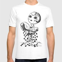 HEART RAIN Mens Fitted Tee White SMALL