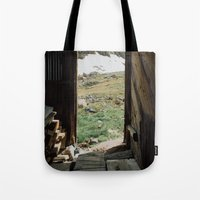 Colorado Mountain Cabin Tote Bag