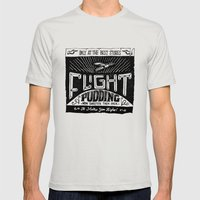 Flight Mens Fitted Tee Silver SMALL