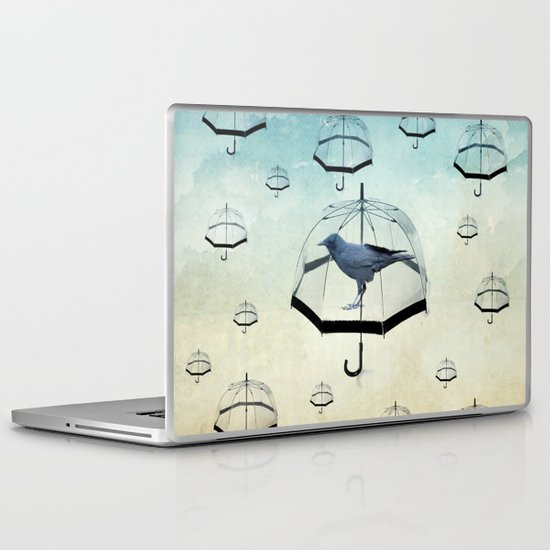 raven rain Laptop & iPad Skin