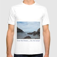 Out To Sea! Mens Fitted Tee White SMALL
