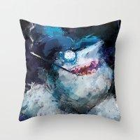 Penguin Painting Throw Pillow