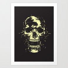 Scream (gold) Art Print