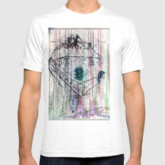 ... White Mens Fitted Tee SMALL